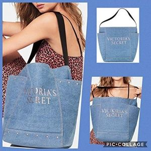 Victoria's Secret Denim Tote Bag
